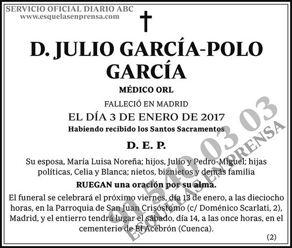 Julio García-Polo García